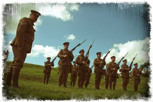 On parade at Reigate Fort