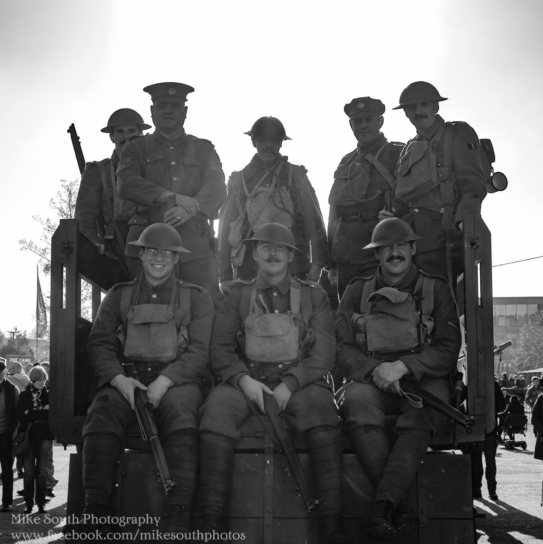 Some of the lads from the 10th Essex and our friends from the 2nd Battalion Bord...