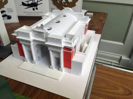 Model of the Menin Gate at Ypres