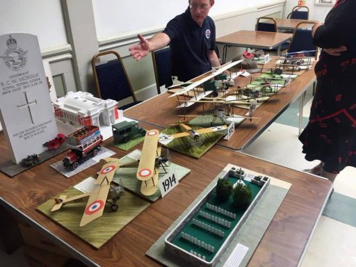 Great display of WW1 model aircraft