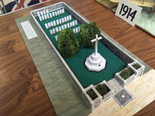 Model of a Commonwealth War Grave Site