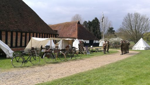 Our Living History Camp outside the main barn
