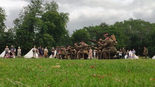 The 10th Essex during a firing display
