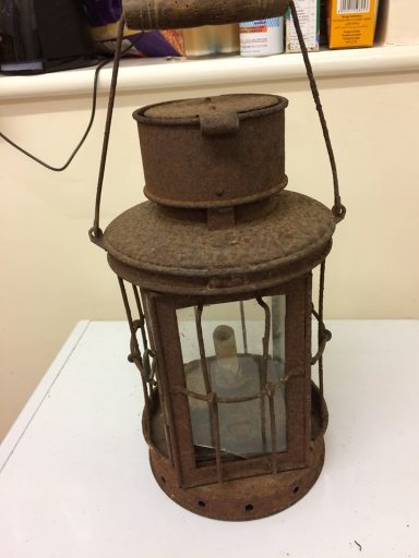 A WW1 Storm Lantern from The Somme